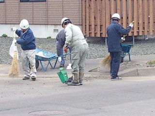 町内の清掃の様子